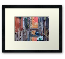 Canal In Venice Italy Framed Print