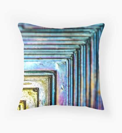 Abstract Bismuth Throw Pillow