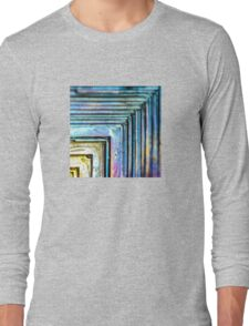 Abstract Bismuth Long Sleeve T-Shirt