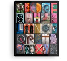 Coloured Alphabet Print Metal Print