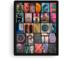 Coloured Alphabet Print Canvas Print