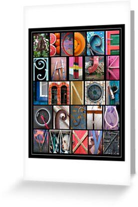 Coloured Alphabet Print by Abba Richman