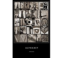 Alphabet Monochrome Poster Photographic Print