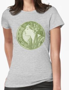 Vintage Ivy Goddess Womens Fitted T-Shirt