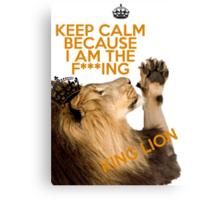 Lion Keep Calm Canvas Print