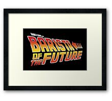 Barista of the future Framed Print