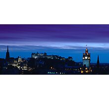 Edinburgh skyline at dusk Photographic Print