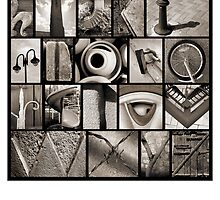 Alphabet Monochrome Poster 2 by Abba Richman