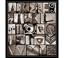 Alphabet Monochrome Print Photographic Print