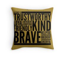 A Scout is... Throw Pillow