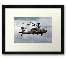 British Army Air Corps AugustaWestland WAH-64D AH.1 Helicopter Framed Print