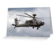 British Army Air Corps Augusta Westland WAH-64D Longbow Apache Attack Helicopter Greeting Card