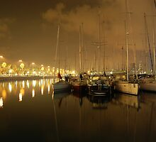 Barcelona Harbour by Sarah Verrall