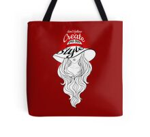 Lady in a hat with large fields Tote Bag