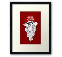 Lady in a hat with large fields Framed Print