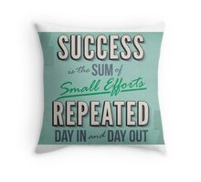 Success is the Sum of Small Efforts Repeated Day in and Day Out Throw Pillow