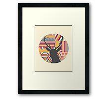 Aztec Geometric silhouette print Framed Print