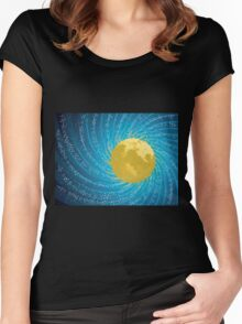 Abstract night sky Women's Fitted Scoop T-Shirt