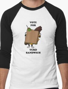 Vote for Turd Sandwich Men's Baseball ¾ T-Shirt