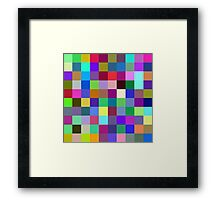 Color does not add a pleasant quality to design, it reinforces it. Framed Print