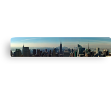 Panoramic view of New York color version Canvas Print