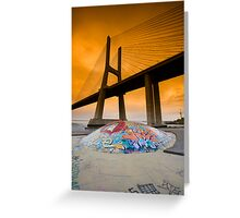 Vasco da Gama Bridge, Lisbon, Portugal Greeting Card