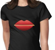 Zipped Lips Womens Fitted T-Shirt