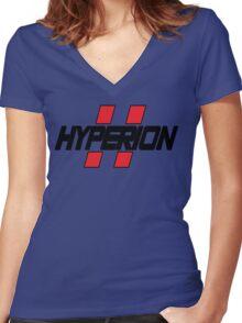 Hyperion Logo Women's Fitted V-Neck T-Shirt