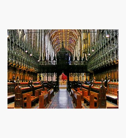 The Nave of Chester Anglican Cathedral UK, Photographic Print