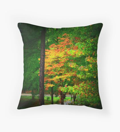 Fall Dogwood Throw Pillow