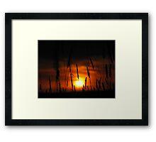 A Crimson Sky Framed Print