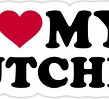 I love my butcher Sticker