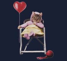 Pretty little Kitty with a heart balloon Kids Clothes
