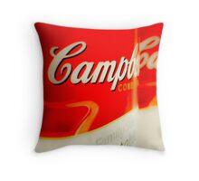 Warhol-Inspired Soup Cans - Pop Art Throw Pillow