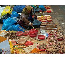 Street Market, Seoul, South Korea. Photographic Print