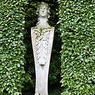 A garden statue in a niche. by EileenLangsley