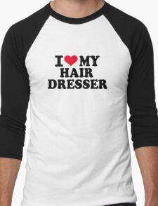 I love my hairdresser Men's Baseball ¾ T-Shirt