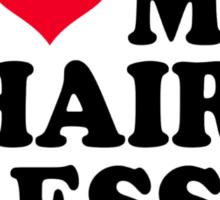I love my hairdresser Sticker