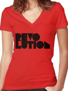 revolution Women's Fitted V-Neck T-Shirt