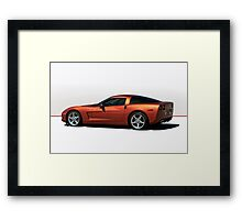 2005 Chevrolet Corvette 'Red Line' Coupe Framed Print
