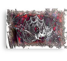 Creepy Web Metal Print