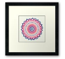 Ocean Sunset Mandala Framed Print