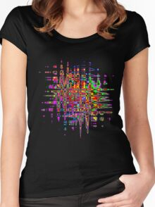 Abstract colorful tee Women's Fitted Scoop T-Shirt