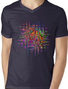 Abstract colorful tee Mens V-Neck T-Shirt