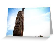 Indian Totem Pole - Ocean City, Maryland Greeting Card