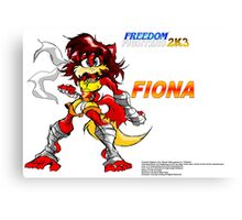 Freedom Fighters 2K3 Fiona Canvas Print