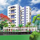 Tower n greenery by Anil Nene