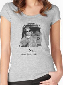 Rosa Parks Deal With It nah Women's Fitted Scoop T-Shirt