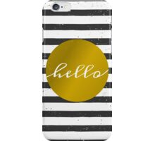 Black & White Stripes and Gold iPhone Case/Skin