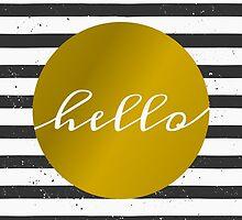 Black & White Stripes and Gold by Iveta Angelova
